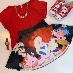 Disney Alice in Wonderland Skater Skirt